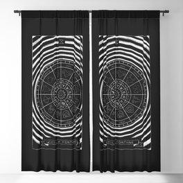 Wheel of Fortune Tarot Card Blackout Curtain