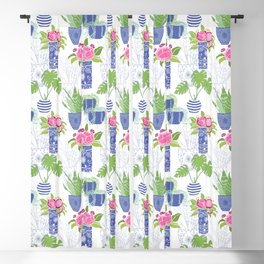 Chinoiserie Cactus Blackout Curtain