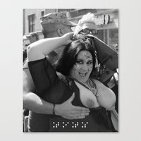 tits Canvas Prints featuring Braille: Tits by Plunder O Poet