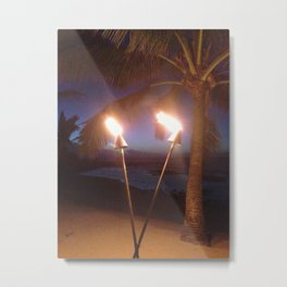 Tiki torches Metal Print