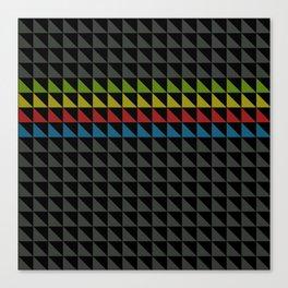 Four Tone Triangles Canvas Print