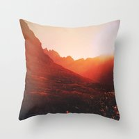 mars Throw Pillows featuring Mars. by Polishpattern