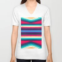 surf V-neck T-shirts featuring SURF by Nika