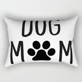 Dog Mom Paw Rectangular Pillow