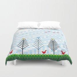 Treetop Birds Duvet Cover