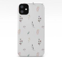 Little botanics pastel pattern iPhone Case