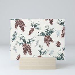 Gouache Pine Cones Mini Art Print