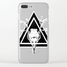 Deer Graphic Illustration Clear iPhone Case
