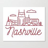 nashville Canvas Prints featuring Nashville by Rob Allgood