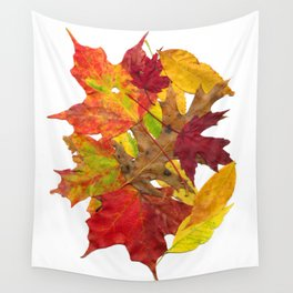 Autumn Fall Leaves Foliage Art Wall Tapestry
