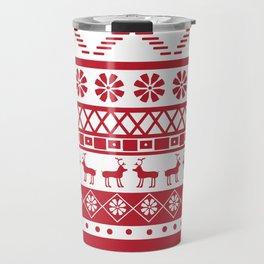Modern Fair Isle Travel Mug