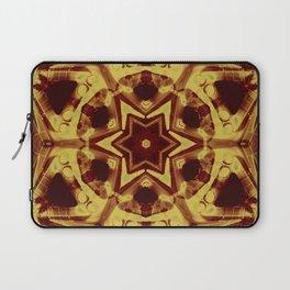 Star mandala in golden brown Laptop Sleeve