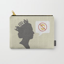 Facial hair will never go down with the queen/Nice, nice, very nice mix Carry-All Pouch
