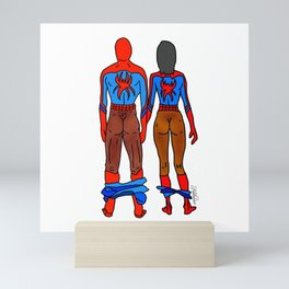 Superhero Butts Love 6 - Chocolate Mini Art Print