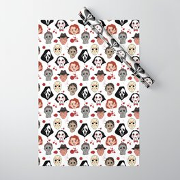 Horror Villains Pattern Wrapping Paper