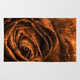 Burning Grunge Rose Rug