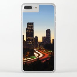 Seattle Skyline Sunset City Clear iPhone Case