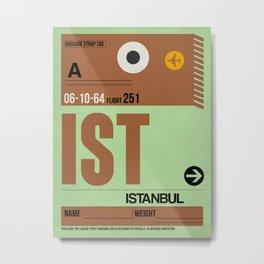 IST Istanbul Luggage Tag 2 Metal Print