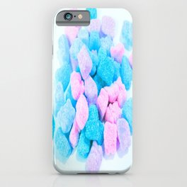 Candy: Pink Turquoise Lavender Gummy Bears iPhone Case