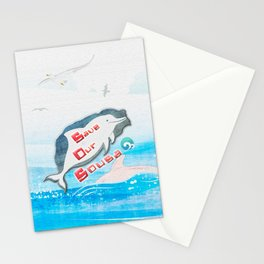 LOVE TAIWAN PINK DOLPHINS / SAVE TAIWAN PINK DOLPHINS Stationery Cards