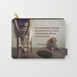 Proverbs 5:22 Carry-All Pouch