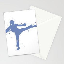 Karate Kick Silhouette Stationery Cards