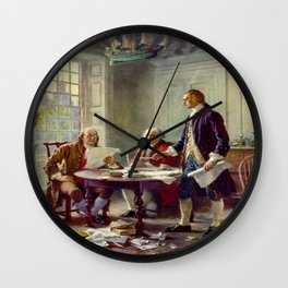Jean-Leon Gerome Ferris's Writing the Declaration of Independence in 1776 Wall Clock