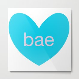 Bae in Hearts Metal Print