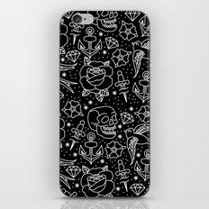 Black flash iPhone & iPod Skin