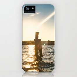 Sunset in Flensburg Harbour iPhone Case