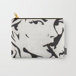 WOMAN SMOKING A CIGARETTE Carry-All Pouch