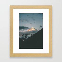 The majestic Aoraki / Mt Cook at dusk Framed Art Print