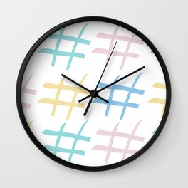 Hashtag pastel palette Wall Clock