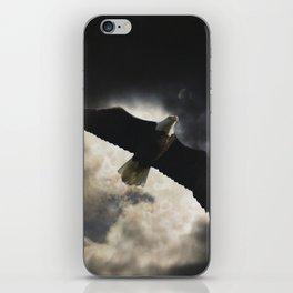Soaring Eagle in Stormy Skies iPhone Skin