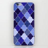 morocco iPhone & iPod Skins featuring Morocco Blue by Jacqueline Maldonado
