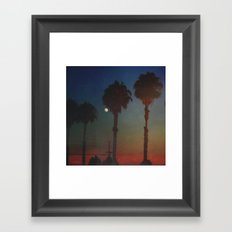 Moon Glow Framed Art Print