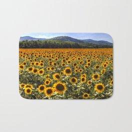 Sunflower Fields Of Dreams Bath Mat