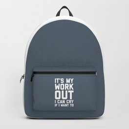 It's My Workout Funny Gym Quote Backpack