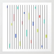 Color & Stripes Art Print