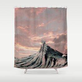 WAVE # 2 - sky Shower Curtain