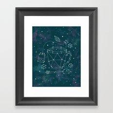 Tea Time Constellation Framed Art Print
