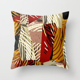 Patch Pattern Throw Pillow