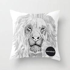 Asleep lion Throw Pillow