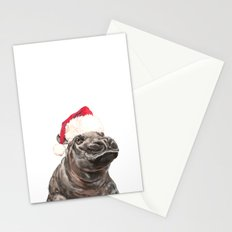 Christmas Baby Hippo Stationery Cards