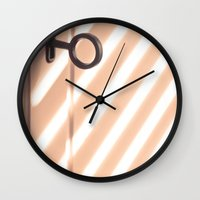 shadow Wall Clocks featuring Shadow by Maite Pons
