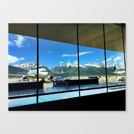 Mountain View from the Jackson Hole Airport Canvas Print