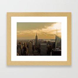 Sunset in New York Framed Art Print