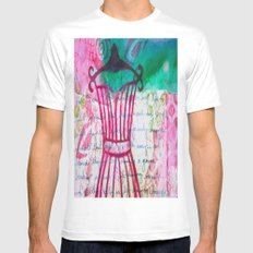 Spring  White Mens Fitted Tee MEDIUM