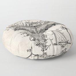 Brewing Beer Patent - Beer Art - Antique Floor Pillow