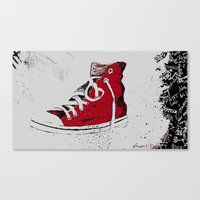 chuck Canvas Prints featuring Chuck  by Project P